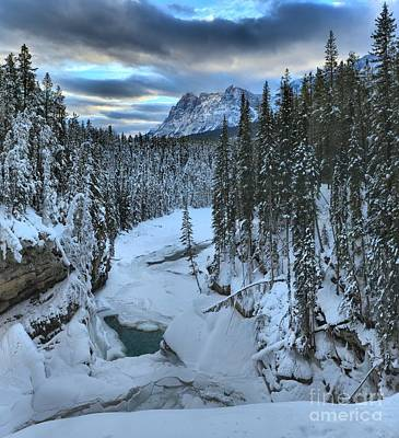 Photograph - Sunwapta Canyon Winter by Adam Jewell