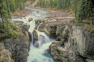 Art Print featuring the photograph Sunwapta Falls 2006 01 by Jim Dollar