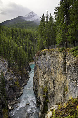 Photograph - Sunwapta Falls Canyon by John Gilbert