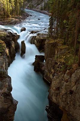 Sunwapta Falls In Jasper National Park Art Print