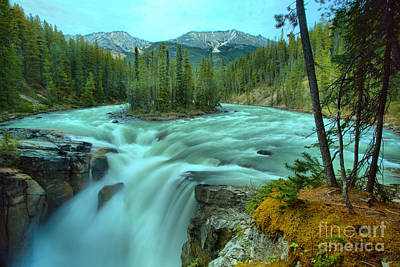 Photograph - Sunwapta Falls Spring Flow by Adam Jewell