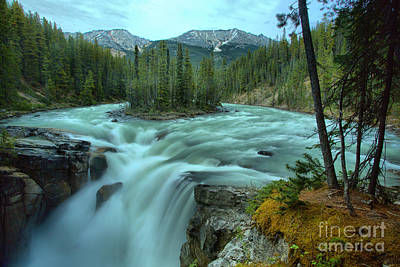 Photograph - Sunwapta Falls Spring Gusher by Adam Jewell
