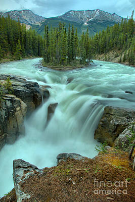 Photograph - Sunwapta Falls Spring Portrait by Adam Jewell