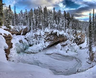 Photograph - Sunwapta Falls Winter Paradise by Adam Jewell