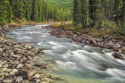 Art Print featuring the photograph Sunwapta River 2005 01 by Jim Dollar
