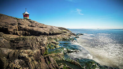 Suomenlinna Small Lighthouse - Helsinki, Finland - Seascape Photography Art Print by Giuseppe Milo