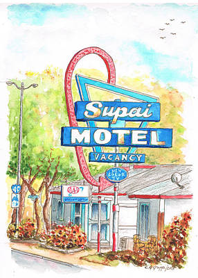 Supai Motel In Route 66, Seliman, Arizona Art Print