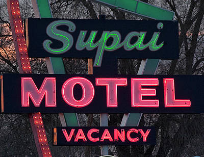 Supai Motel Neon Art Print