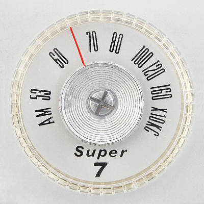 50s Photograph - Super 7 Portable Radio Dial by Jim Hughes