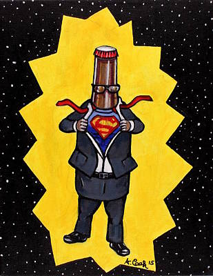 Wall Art - Painting - Super Beer by Adam B Cook