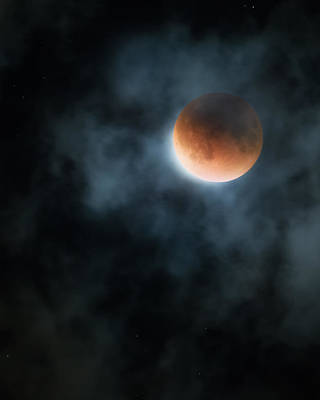 Moonlit Night Photograph - Super Blood Moon 2015 by Bill Wakeley