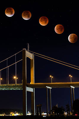 Rare Moments Photograph - Super Blood Moon by Arvid Bjorkqvist