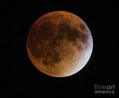 Photograph - Super Blood Moon Lunar Eclipses by Ricky L Jones