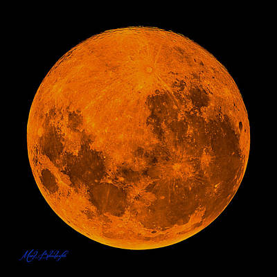 Photograph - Super Blue Blood Moon by Mark Blauhoefer