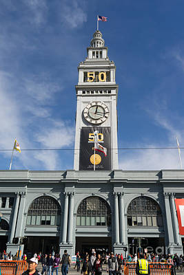 Photograph - Super Bowl 50 At San Francisco Ferry Building Super Bowl City 2016 Dsc4030 by Wingsdomain Art and Photography