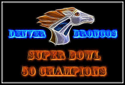 Champion Mixed Media - Super Bowl 50 Champions by Shane Bechler