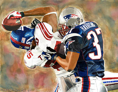 Tyree Painting - Super Bowl Catch by Mario Lorentz