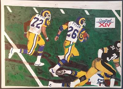 Steelers Drawing - Los Angeles Rams Super Bowl by TJ Doyle