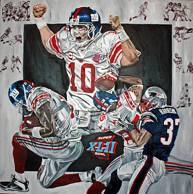 Tyree Painting - Super Bowl Xlii Champs  by David Courson