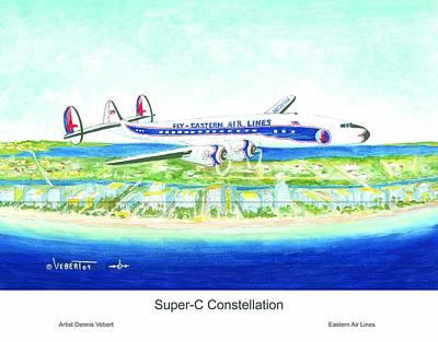 Super-c Constellation Art Print by Dennis Vebert