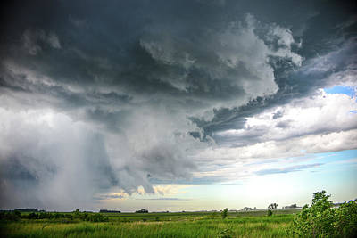 Photograph - Super Cell Over Otter Tail County by Alex Blondeau