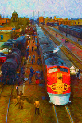 Digital Art - Super Chief Fuel Stop by Chuck Mountain