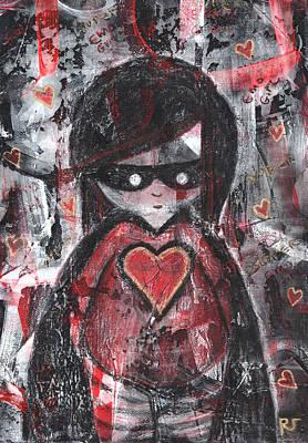 Mixed Media - Super Emo Girl by Roseanne Jones