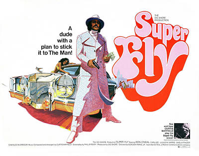 Mayfield Photograph - Super Fly Lobby Promotion  1972 by Daniel Hagerman