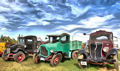 Photograph - Super Funky Antique Trucks Montana by Floyd Snyder
