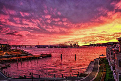 Photograph - Super Hudson River Sunset  by Jeffrey Friedkin