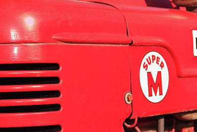 Photograph - Super M Red Tractor by Joni Eskridge