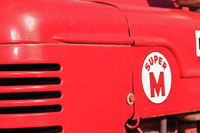 Photograph - Super M Red Tractor by Joni Eskridge