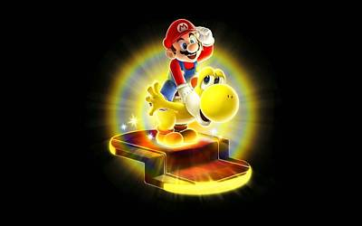 Bright Digital Art - Super Mario Bros. by Super Lovely
