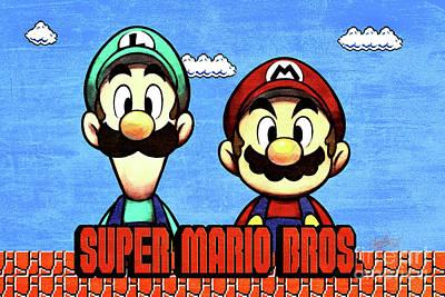 Super Marios Bros Art Print