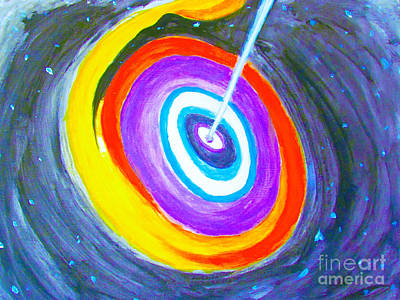 Painting - Super Massive Black Hole Impression by Stanley Morganstein