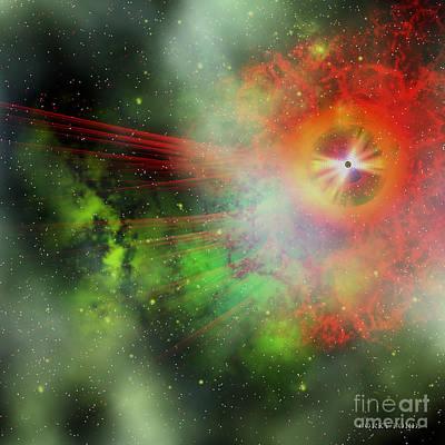 Super Massive Star Art Print