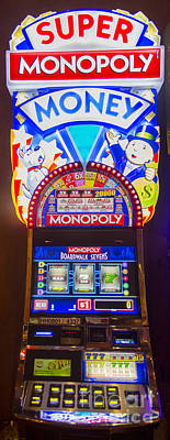 Super Monopoly Money Slot Machine At Lumiere Place Casino Art Print by David Oppenheimer