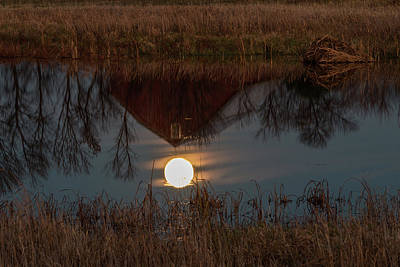 Photograph - Super Moon And Barn Series #4 by Patti Deters