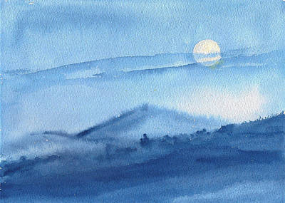 Painting - Super Moon by Asha Sudhaker Shenoy