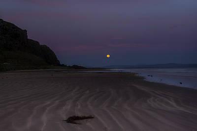 Photograph - Super Moon At Downhill Beach by Glen Sumner
