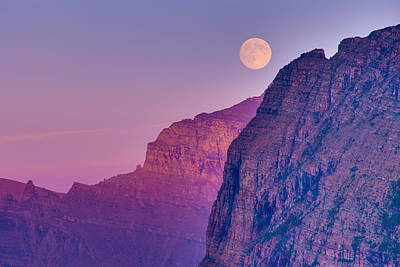 Photograph - Super Moon At Logan Pass by Adam Mateo Fierro