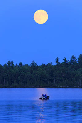 Photograph - Super Moon At The Lake by Barbara West