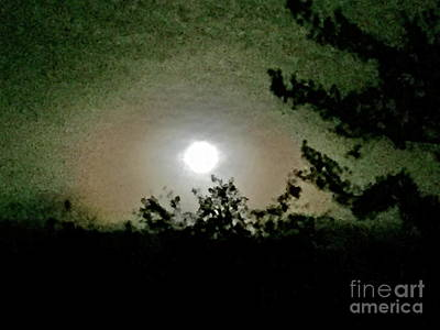 Photograph - Super Moon Aura by Barbara Plattenburg