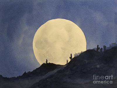Painting - Super Moon by Barbara Tibbets