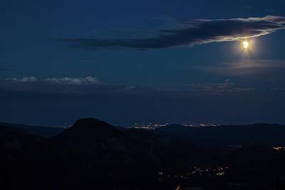 Photograph - Super Moon Eclipse by Tyson Kinnison