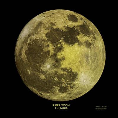 Photograph - Super Moon by Mark Allen
