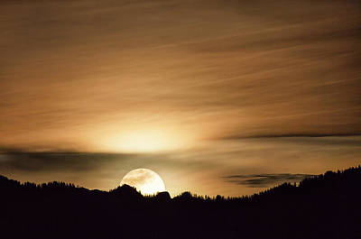 Photograph - Super Moon Over Cimarron Ridge by Denise Bush