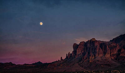 Photograph - Super Moon Over The Superstitions  by Saija Lehtonen