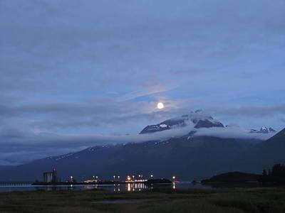 Photograph - Super Moon Over Valdez, Alaska by Denise   Hoff
