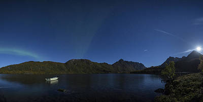 Aurora Borealis Photograph - Super Moon Panorama by Frank Olsen